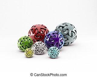 balls isolated on white background