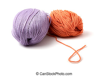 Balls of a multi-coloured yarn