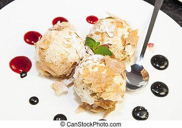 balls of ice cream