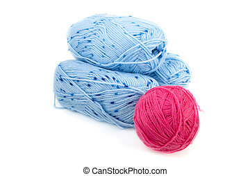 Balls of threads for knitting isolated