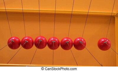 Balls on strings