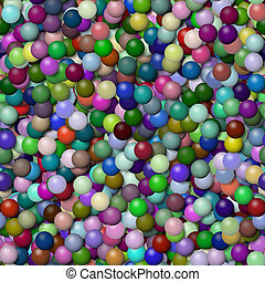 Balls seamless generated hires texture