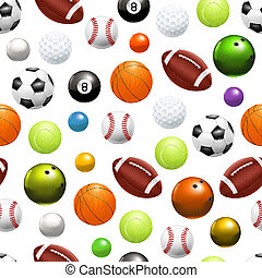 Balls, seamless pattern 10eps
