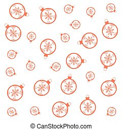 balls snowflake christmas decoration pattern