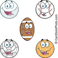 balls., sport, komplet, zbiór