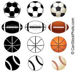 balls - vector ball set