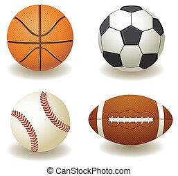 Balls - vector balls sport