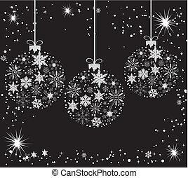 Balls - Vector illustration of Christmas tree balls