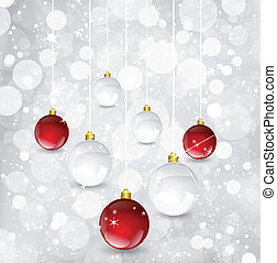balls., vektor, weihnachten, hintergrund