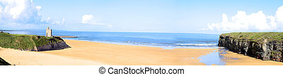 ballybunion, panorama, atlantisch, ansicht