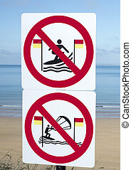 ballybunion, zeichen & schilder, surfer