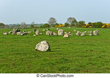 Ballynoe Stone Circle - Ballynoe stone circle, Co Down, N...