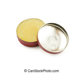 Balm ointment isolated on white background
