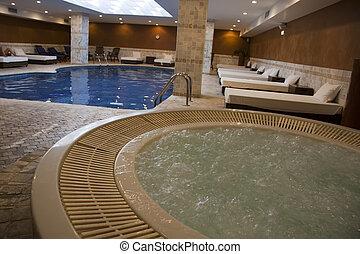 balneario, piscina