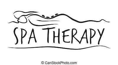 balneario, terapia, plantilla