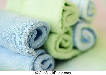 balneario, toallas
