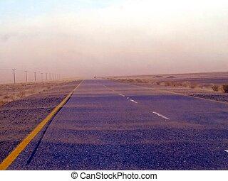 balochistan, pakistano, attraverso, deserto, strada