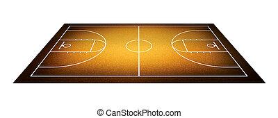 baloncesto, court., ilustración