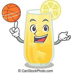 baloncesto, deportivo, destornillador, caricatura, diseño, ...