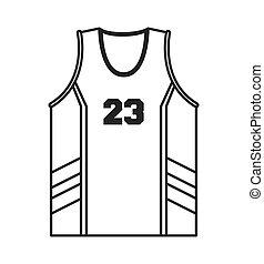 baloncesto, jersey, icono