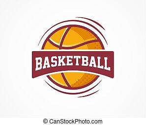 baloncesto, logotipo, norteamericano, deportes, símbolo, y, icono