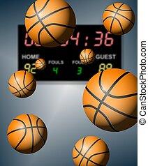 baloncesto, raya