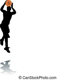 baloncesto, silueta