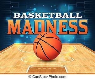 baloncesto, torneo, ilustración
