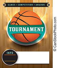 baloncesto, torneo, plantilla