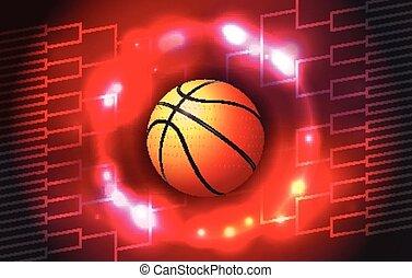 baloncesto, torneo, soporte