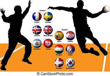 balonmano, empate, hombres