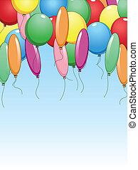 balony, święto, barwny, tło