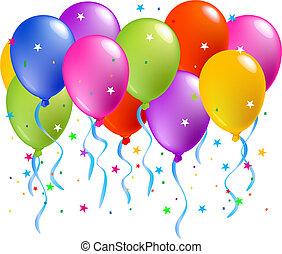 balony, barwny