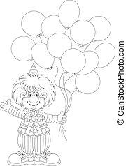 balony, klown