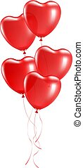 balony, sercowa forma