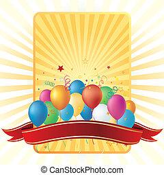 balony, tło, celebrowanie
