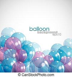 balony, tło