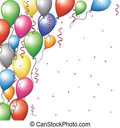 baloon border - Holliday backgraund with baloon border