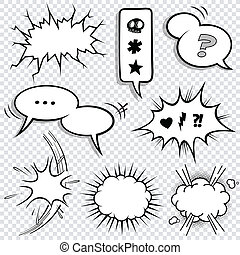 baloon, komikus, 2, állhatatos, karikatúra