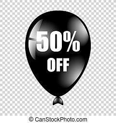 baloon, percents, 黒, 隔離された, バックグラウンド。