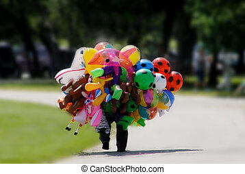 Baloon sales man