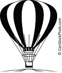 baloon, silhouette, vettore, volare