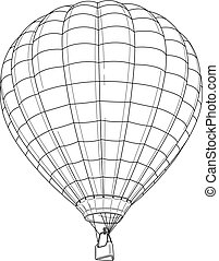 Baloon - vector line drawing