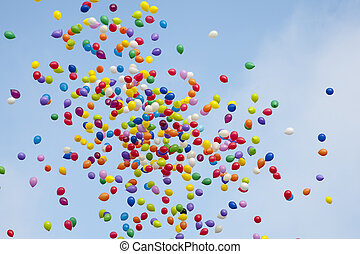 baloons, 天空, 色彩丰富