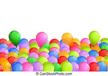 baloons, 다색도 인쇄다