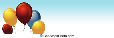 baloons background with copy space