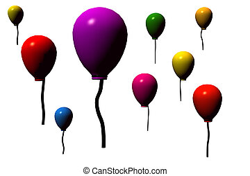 Baloons - baloons on white background