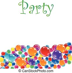 Baloons for party, advertising and presentations. Vector...