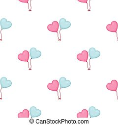 Baloons icon in cartoon style isolated on white background. Romantic pattern stock vector illustration.