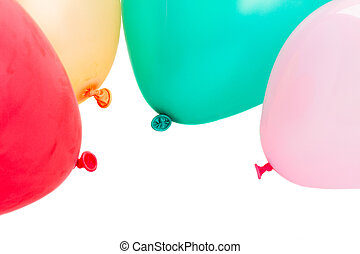 baloons - multicolored party baloons isolated on white...